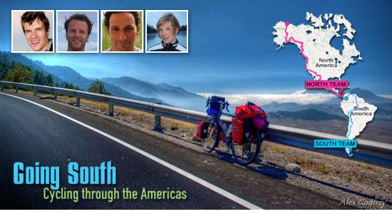 De AVRO brengt 4 wereldfietsers in beeld in GOING SOUTH.