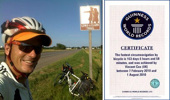 Rond-de-wereld-record nu in handen van Vin Cox