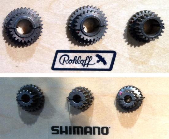 Rohloff versus Shimano tandwielen