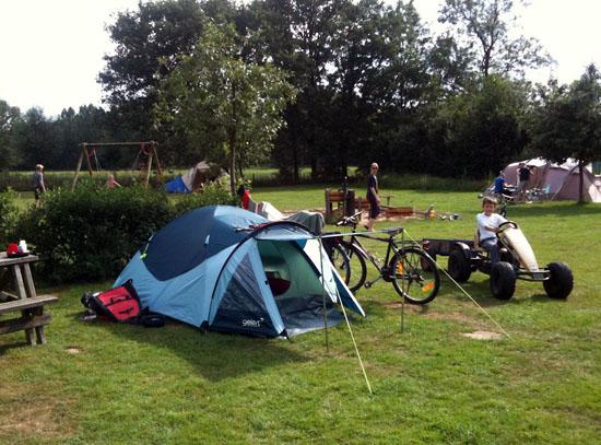 Skelteren op de camping