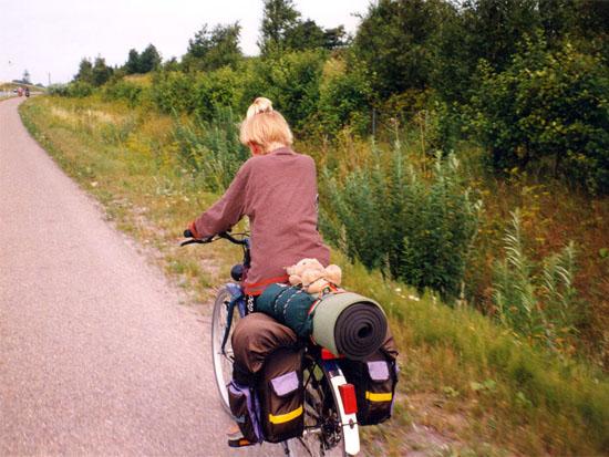 Roos' eerste fietsvakantie