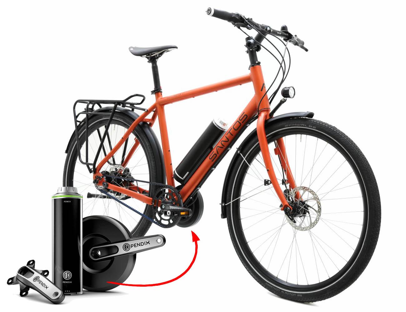 later nieuw ontwerp verschillende kleuren Santos E-bikes met Pendix eDrive — SintChristophorus.nl