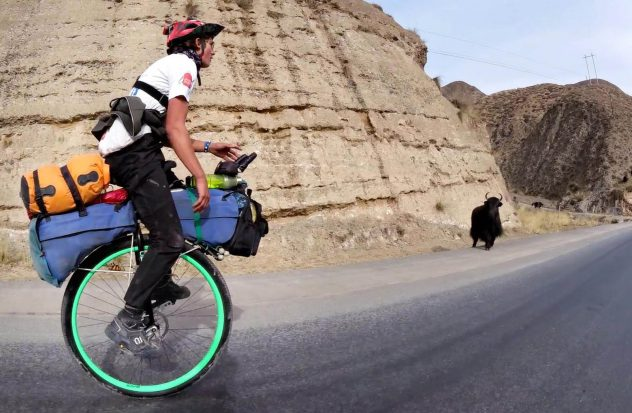Ed Pratt - wereldreis per eenwieler